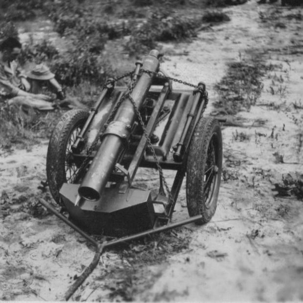 4.2-inch mortar on cart